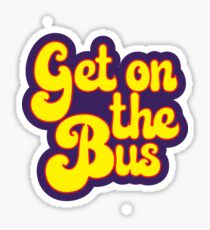 Hippie Typography - Get On The Bus - Psychedelic 60s Text Sticker