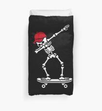 Dab dabbing skeleton skateboard skater Bettbezug