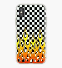 CHECKERED FLAMES iPhone Case