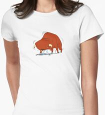 vibrating bull Women's Fitted T-Shirt