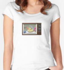 Murderous Rubber Ducky Women's Fitted Scoop T-Shirt