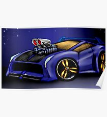 My Car Toon Poster
