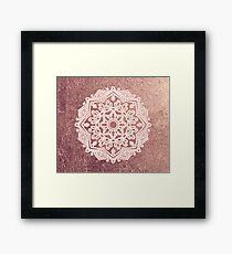 Dusty rose gold mandala Framed Print