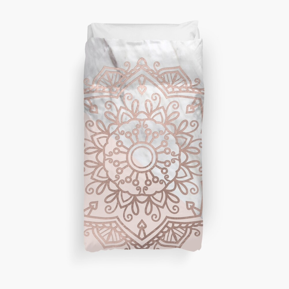 Serie Vogue - mandala de oro rosa Funda nórdica