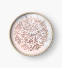 Vogue series - rose gold mandala Clock