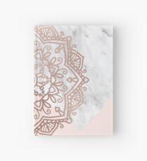 Vogue series - rose gold mandala Hardcover Journal