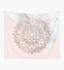 Vogue series - rose gold mandala Wall Tapestry