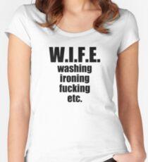 WIFE,,,,, washing ironing fucking etc Women's Fitted Scoop T-Shirt