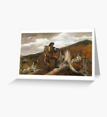Winslow Homer, A Huntsman and Dogs, 1891 Greeting Card