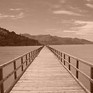 Jetty to the Mountains by eyeshot