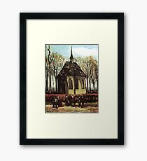 Congregation Leaving the Reformed Church in Nuenen- Vincent van Gogh Framed Print