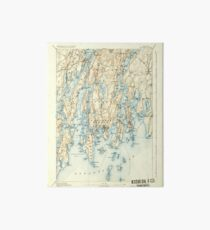 Maine USGS Historical Map Boothbay 460220 1893 62500 Art Board