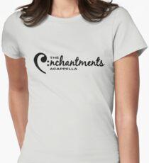 Black Logo Women's Fitted T-Shirt