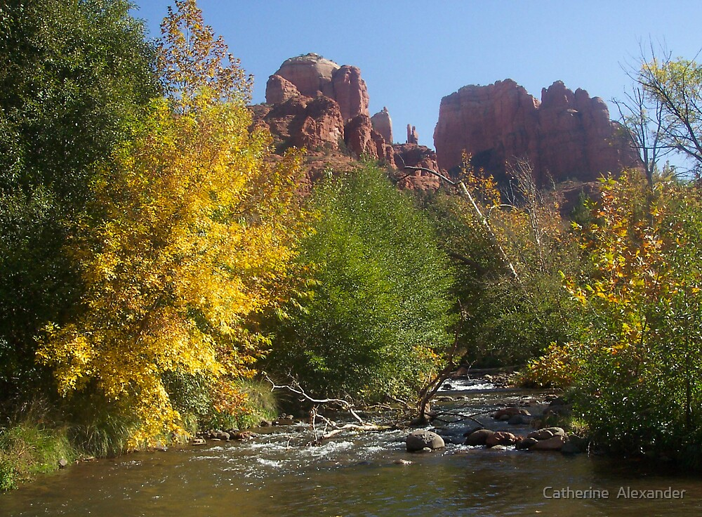 Oak Creek and Cathedral Rock  by Catherine  Alexander