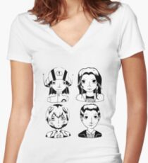 Lab Girls 1.0 Women's Fitted V-Neck T-Shirt