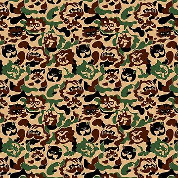 Gato camuflaje de Huebucket