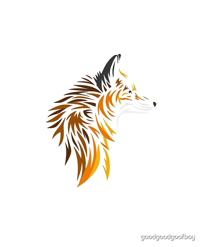 Quot Tribal Fox Quot By Goodgoodgoofboy Redbubble