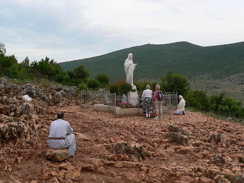 Medugorje Hercegovina - Mary on Apparition Hill by dmo31