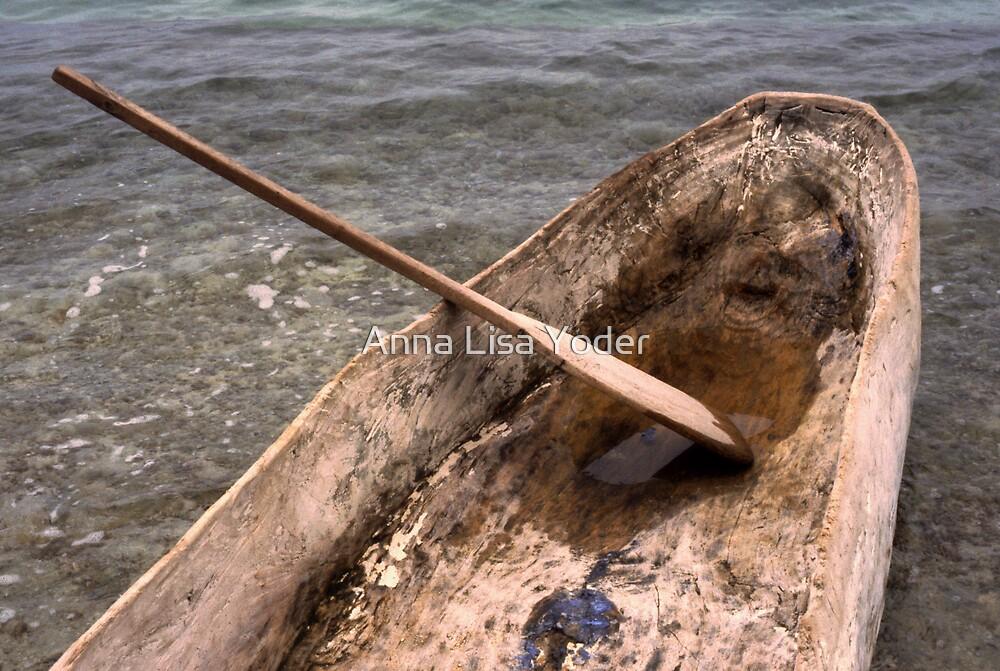 Dugout Wooden Canoe in Haiti by Anna Lisa Yoder