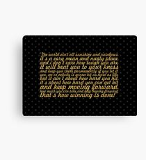 "The world ain't... ""Rocky Balboa"" Inspirational Quote (Wide) Canvas Print"