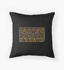 "The world ain't... ""Rocky Balboa"" Inspirational Quote Throw Pillow"