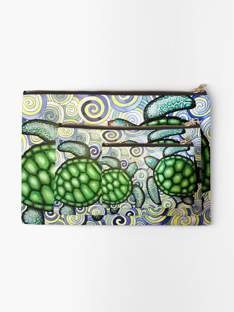 Alternative Ansicht von Turtle Tide in Spiralen Täschchen