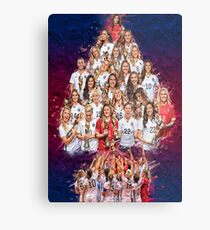 USWNT 1 Year World Cup Champs! Metal Print