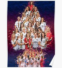 USWNT 1 Year World Cup Champs! Poster