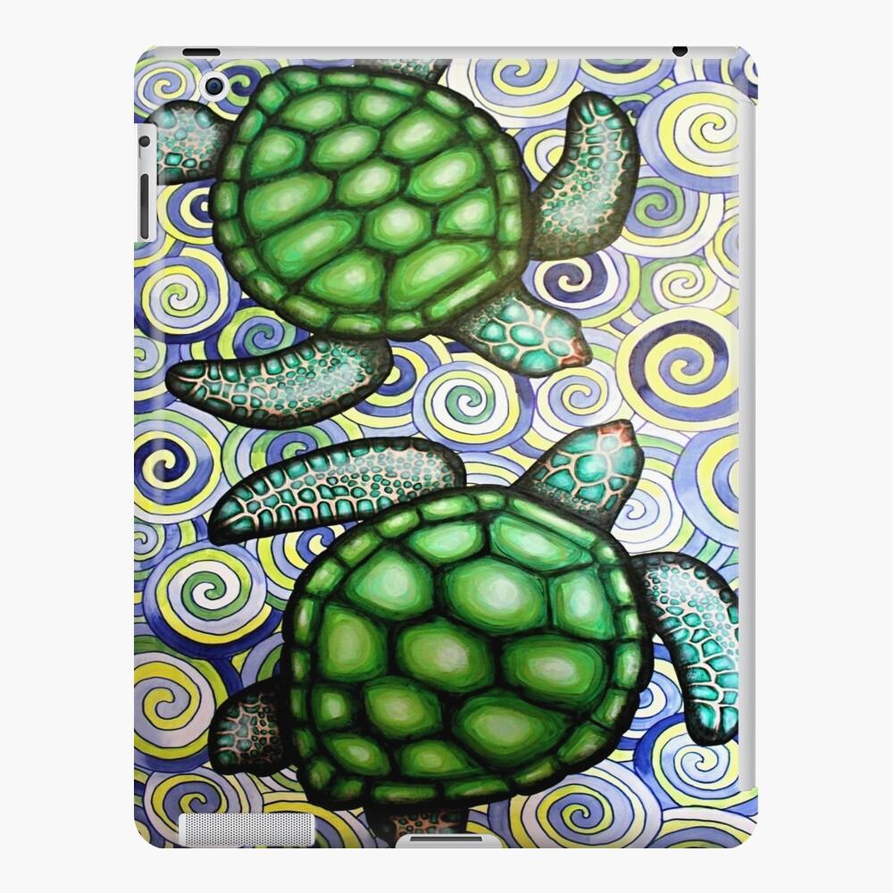 Marea de tortuga en espirales Funda y vinilo para iPad