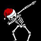 Abtupfen Skeleton Shirt Santa Hat Weihnachten Shirt Tupfen Skull von vomaria
