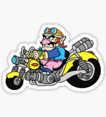 Wario Biking Sticker