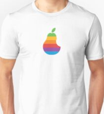 Pear Apple Parody Funny Retro Unisex T-Shirt