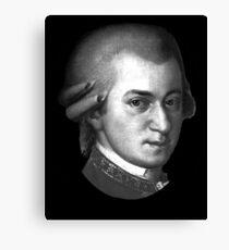 The genius Wolfgang Amadeus Mozart Canvas Print