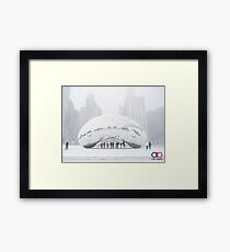 Bean Covered in Snow Framed Print
