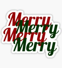 Staggered Merry Sticker