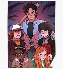 Stranger Things: Steve and the gang Poster