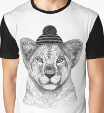 Kid Lion in winter hat Graphic T-Shirt