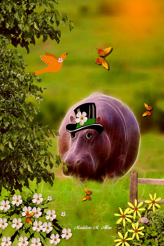 ~ Henry Hippo - Going to the Picnic ~ by Madeline M  Allen