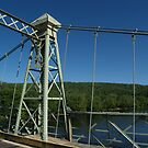 1904 Roebling Bridge Across Delaware River by Anna Lisa Yoder