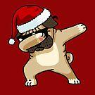 Tupfen-Mops-Hemd Netter Mops-Tupfen-Hemd-WeihnachtsPugly-Strickjacke von vomaria