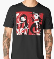 Black, White & Red Men's Premium T-Shirt