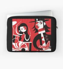 Black, White & Red Laptop Sleeve