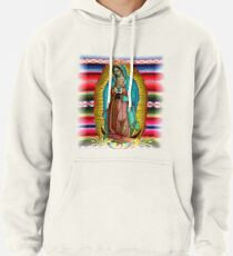 Our Lady of Guadalupe Virgin Mary Zarape Red Pullover Hoodie