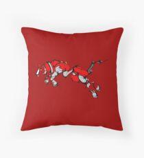 Red Voltron Lion Cubist Throw Pillow