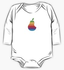 Pear Apple Parody Funny Retro One Piece - Long Sleeve