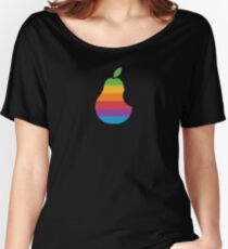 Pear Apple Parody Funny Retro Women's Relaxed Fit T-Shirt