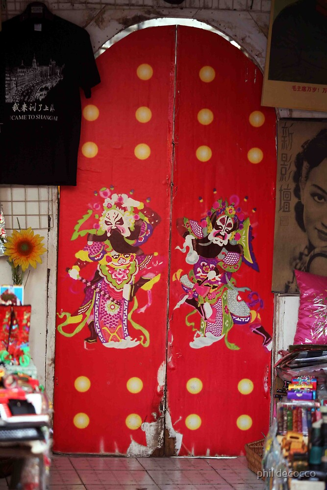 Funky Chinese Doors by phil decocco