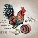 Year of the Rooster Calendar (white) by Stephanie Smith