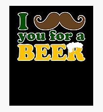 I mustache you for a beer Photographic Print