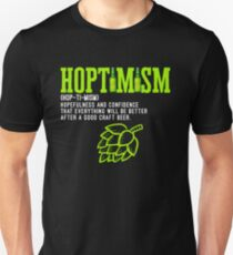 Best Selling Hoptimist with A Hoptimism Craft Beer Unisex T-Shirt